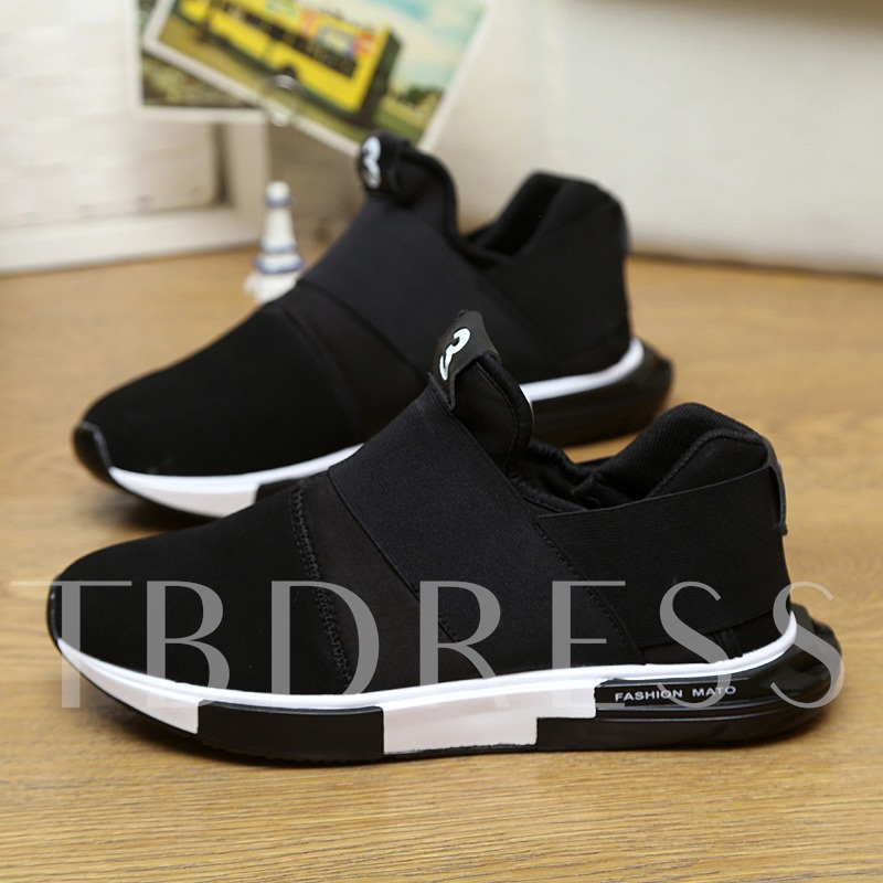 Round Toe Elastic Band Floral Stylish Men's Sneakers