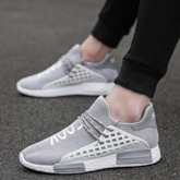 Letter Pattern Round Toe Mesh Lightweight Men's Sneakers