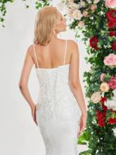Beading Spaghetti Straps Embroidery Lace Wedding Dress
