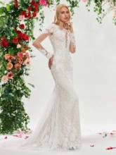 Lace Mermaid Wedding Dress with Long Sleeve