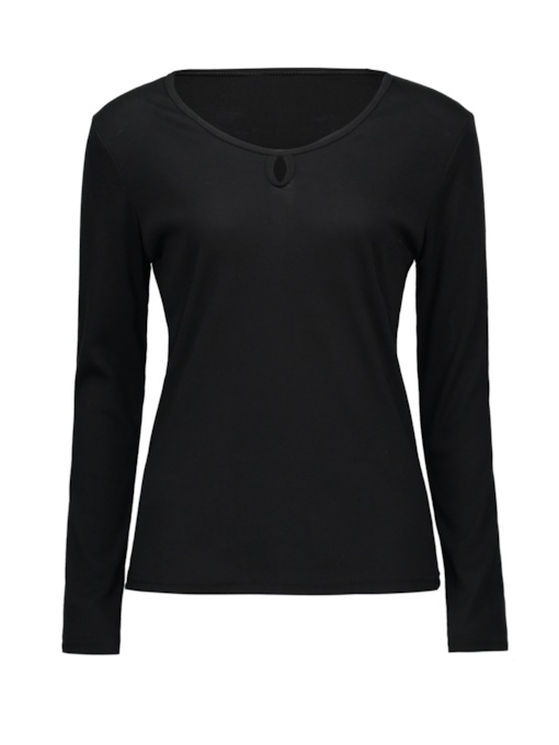 Turtleneck Button Up Women's Cropped T-Shirt