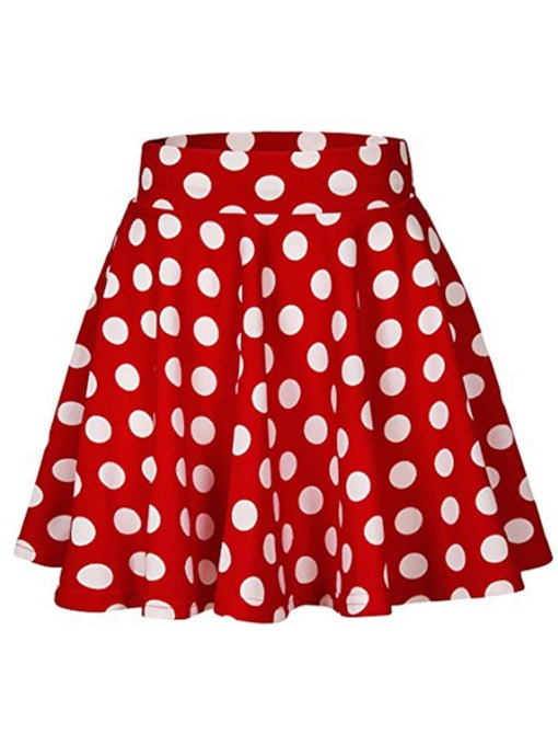 Casual Polka Dots A Line Women's Mini Skirt