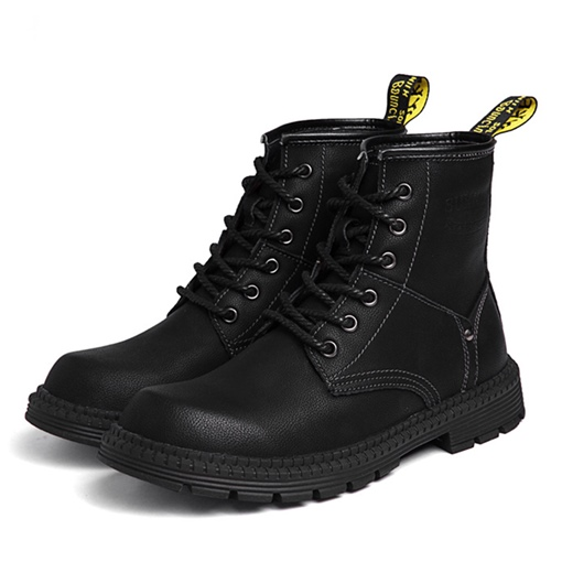 Lace-Up Round Toe High Top Chic Men's Martin Boots