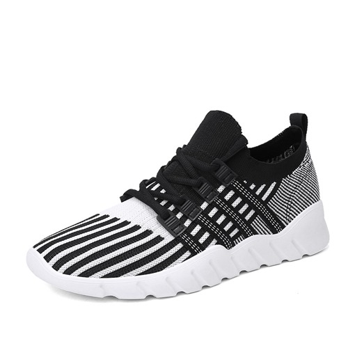 Mesh Stripe Round Toe Lace-Up Fashion Men's Trainers