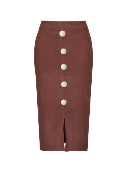 Knit Pleated Bodycon Women's Skirt