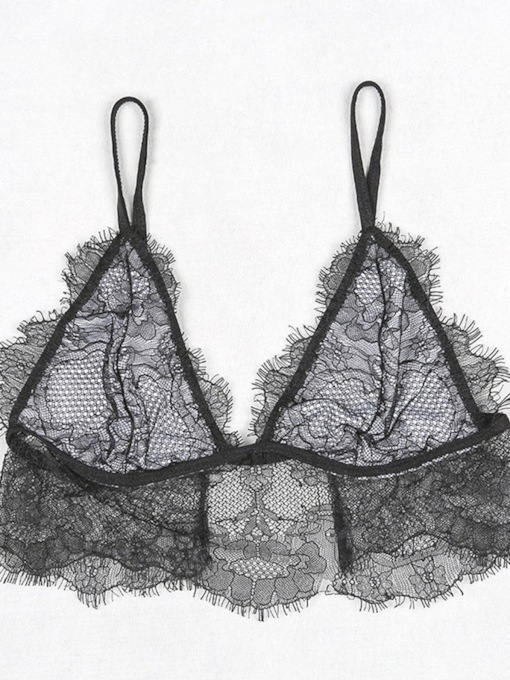 Eyelash Hollow Lace Sexy Bra