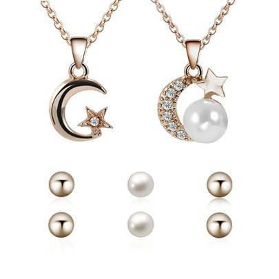 Moon&Star Pearl Various Combinations Jewelry Sets Moon&Star Pearl Various Combinations Jewelry Sets