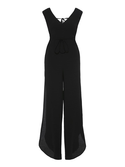 Tie Waist Backless Women's Jumpsuit