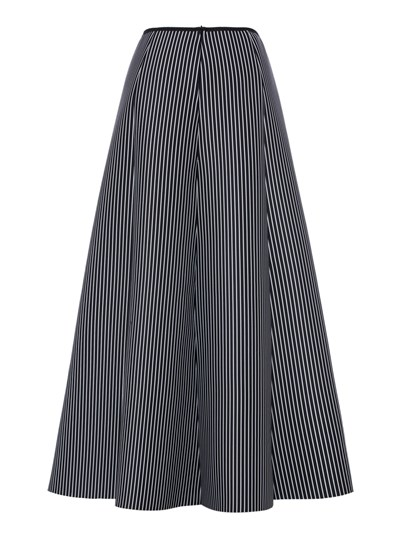 Stripe A Line High Waist Women's Maxi Skirt