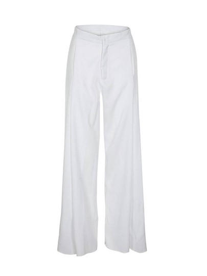 Plain High Waist Casual Women's Pants
