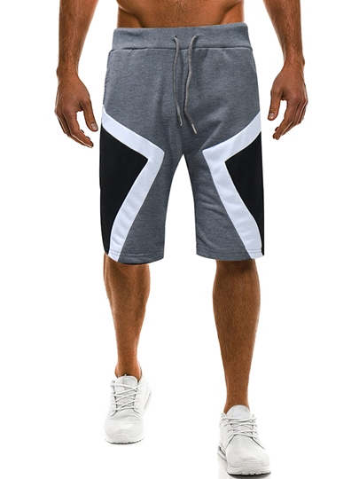 Patchwork Cotton Loose Men's Sports Pants