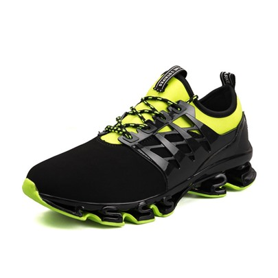 Round Toe Lace-Up Patchwork Men's Sneaker
