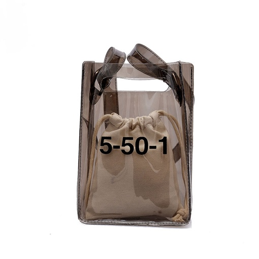 Modern Vogue Letter PVC Small Jelly Bag