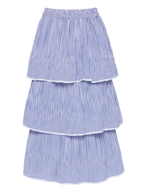 Layered Striped Long Women's Skirt