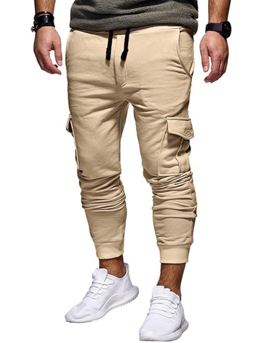 Lace-up Elastic Pocket Men's Sweatpants