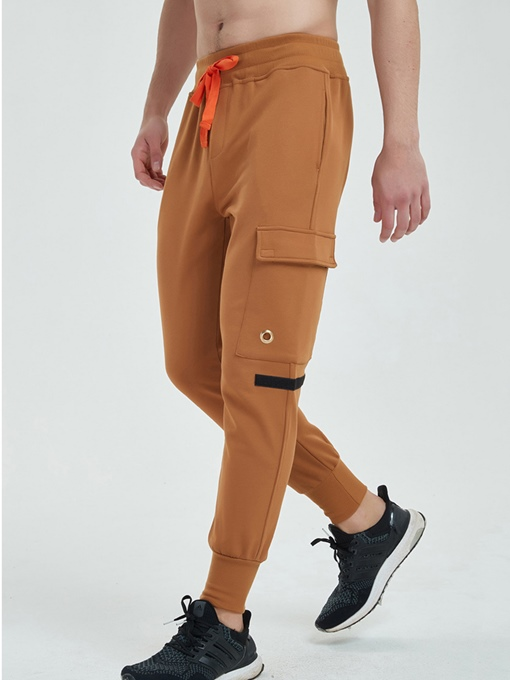 Pockets Lace-up Leisure Men's Ankle Banded Pants