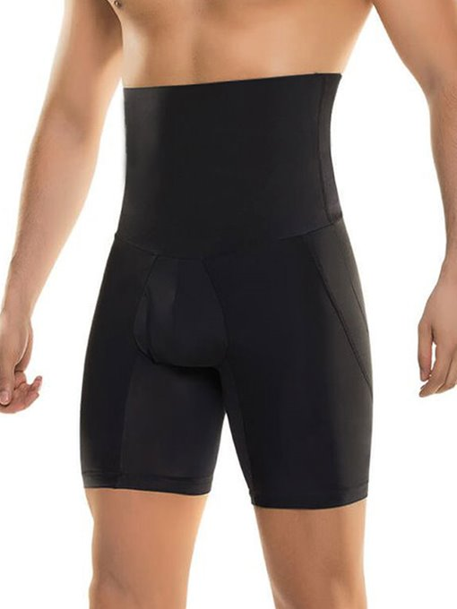 Separate Pouch Compressive Elastic Breathable Shapewear Boxer