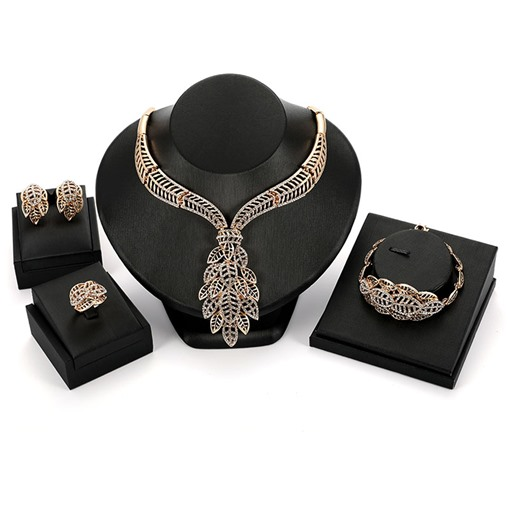 Hollow Out Leaves Simple Alloy Jewelry Sets