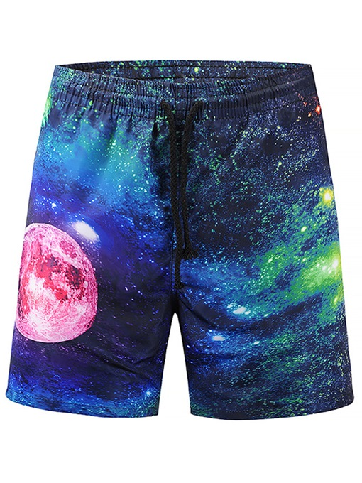 Sky Print Slim Men's Swim Shorts