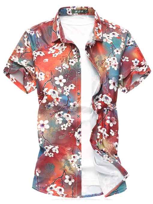 Plus-Size Floral Summer Thin Men's T-Shirt