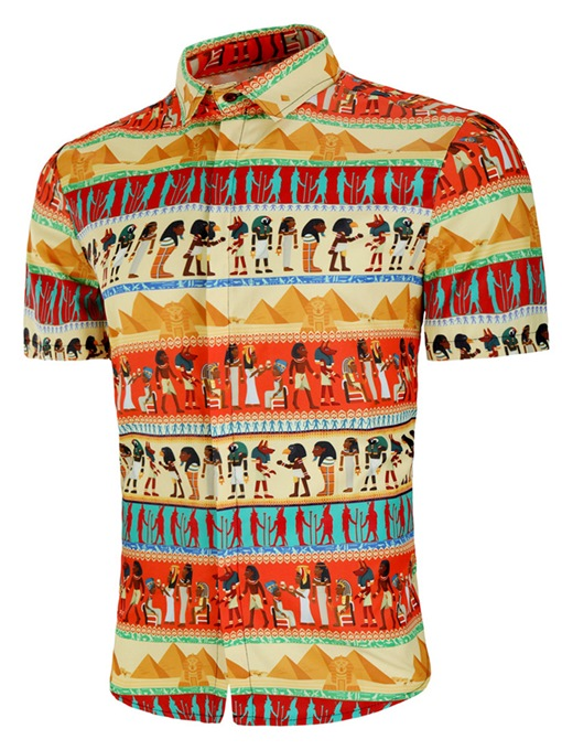 African Style Vintage Ethnic Style Men's Short Sleeve Shirt