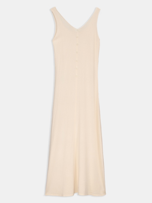 V-Neck Single-Breasted Spaghetti Strap Casual Dress