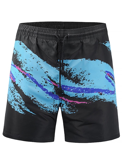 Lace-up Splash-Ink Men's Swim Shorts