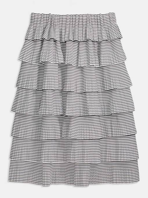 Stripe Ruffled layered Women's Skirt