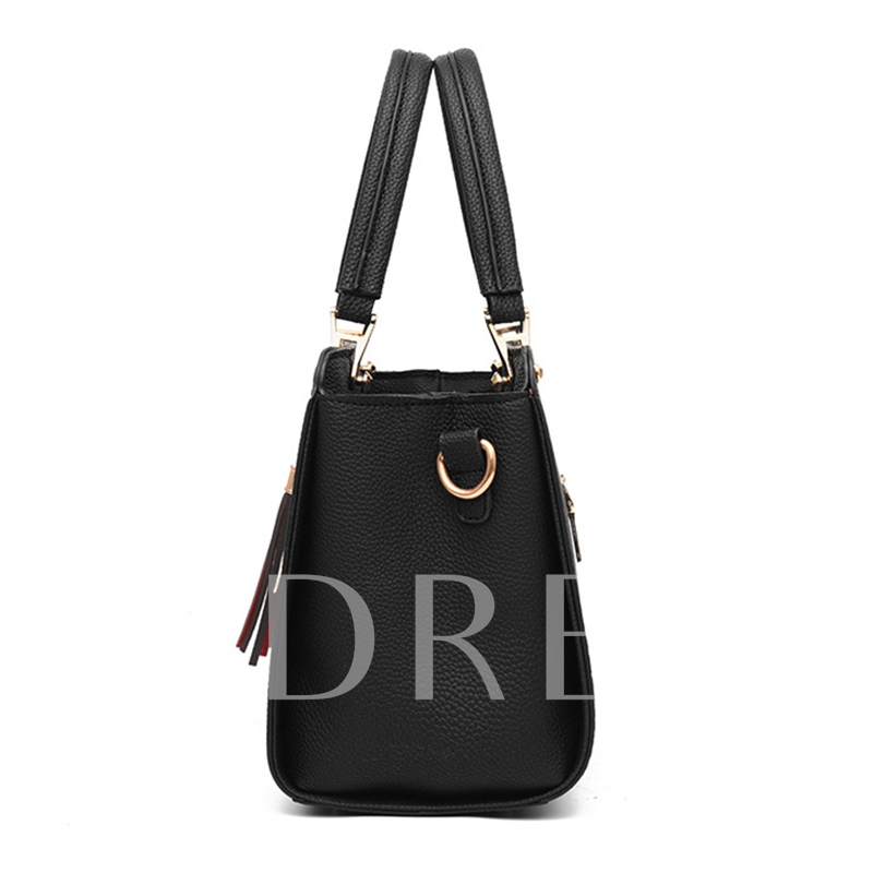 Modern Style PU Color Block Tote Bag