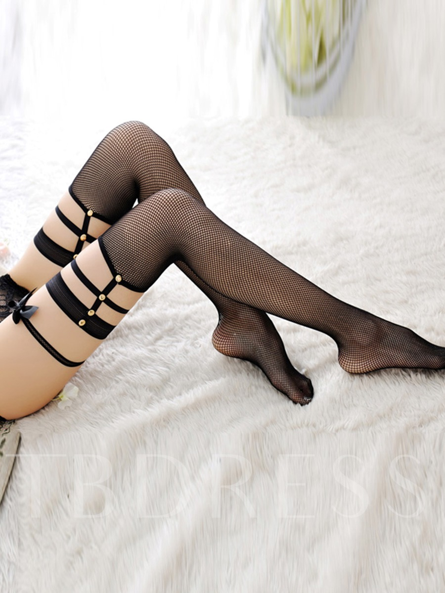 Fishnet Hollow Sexy Thigh-High Stockings
