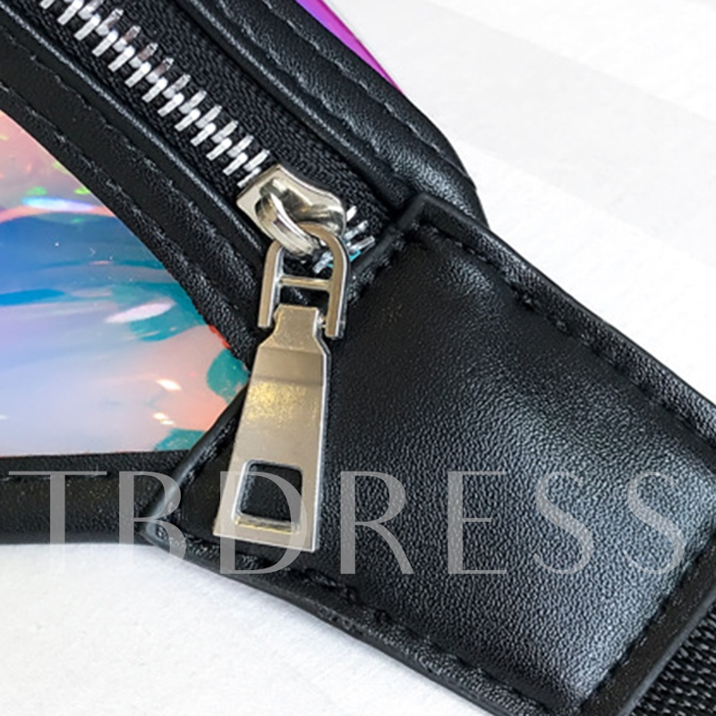 Summer Plain ABS Plastic Zipper Waist Bag