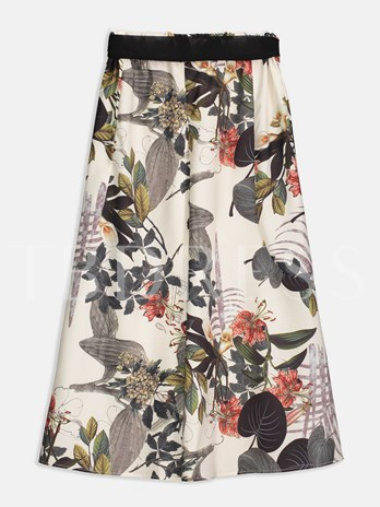 Floral Print Wide Legs Women's Pants