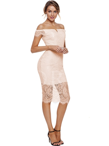 Off-The-Shoulder Elegant Bodycon Lace Dress
