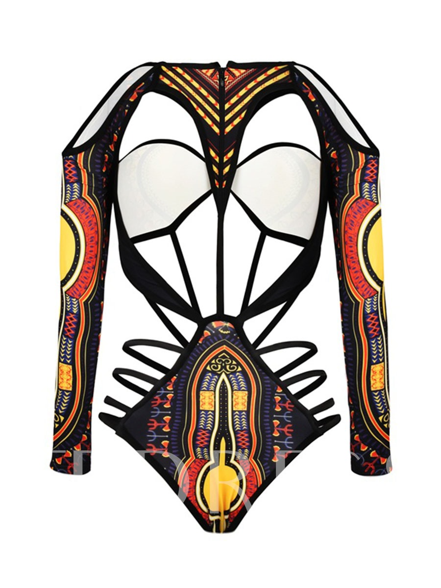 Africa Ethnic Dashiki Swimwear Women's Monokini