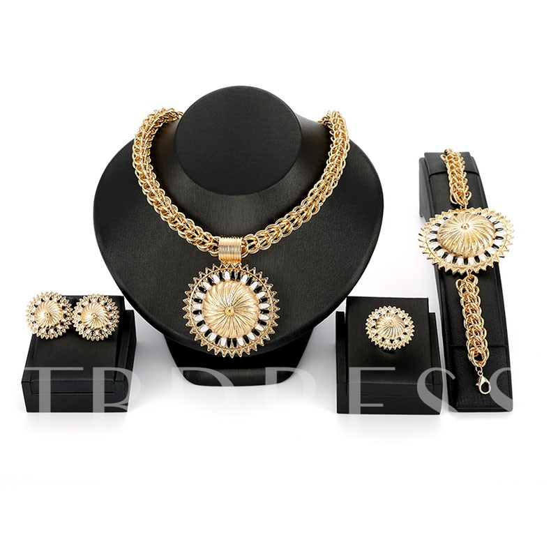 Sunflower-Shaped Dazzling Jewelry Sets