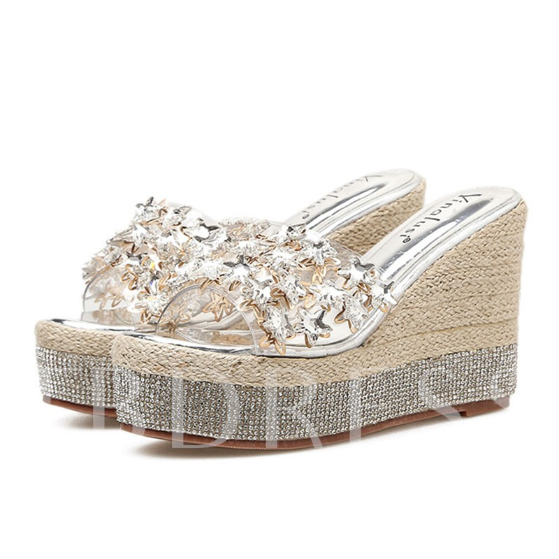 Buy Summer Rhinestone Platform Flip Flop for Women, Spring,Summer, 13291054 for $48.77 in TBDress store