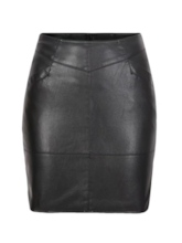 Bodycon PU Zipper Women's Mini Skirt