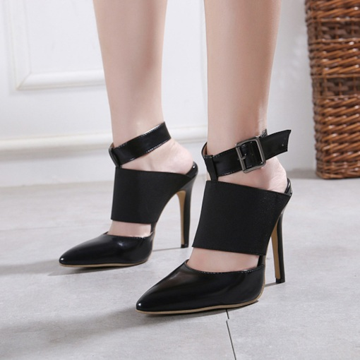 Closed Toe Strappy Stiletto Heel Buckle Chic Women's Sandals