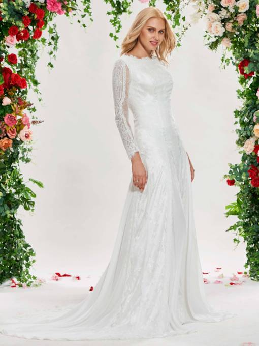 Lace Wedding Dress with Long Sleeve