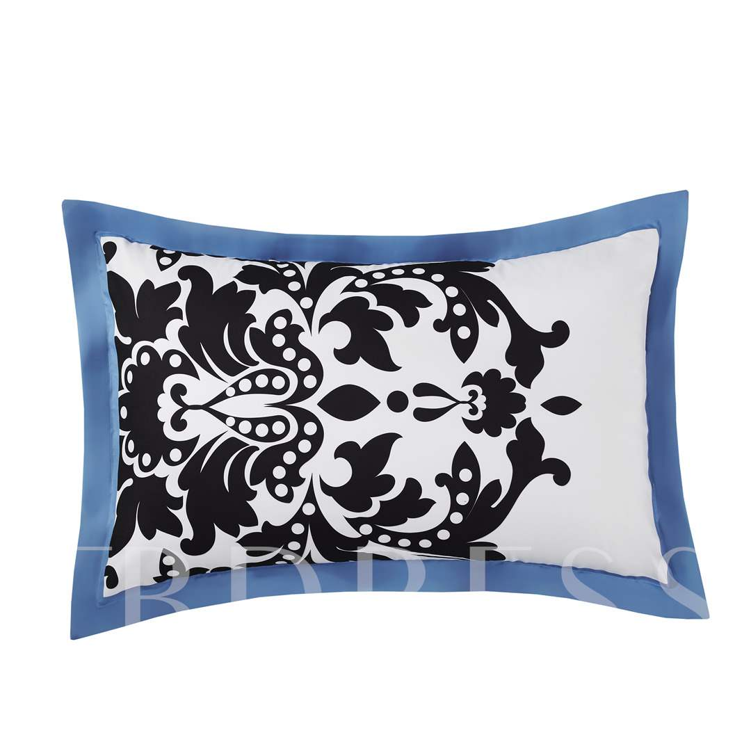 European Court Style Symmetrical Turquoise Printing Polyester 4-Piece Bedding Sets/Duvet Cover