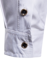 Rose Print Lapel Plain Men's Shirt