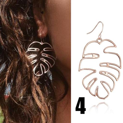 Coconut Tree Hollow Out Earrings