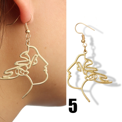 Imaginative Hollow Out Face Earrings