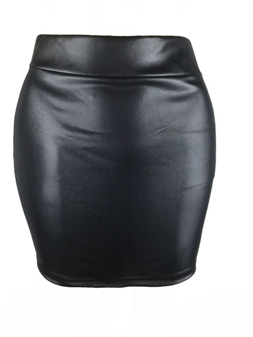 Bodycon PU Women's Mini Skirt