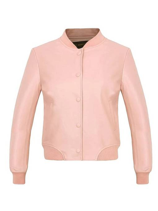 Candy Color Single-Breasted Stand Collar Women's Jacket