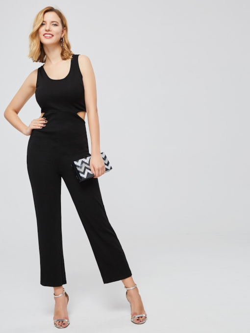 Hollow Strap High Waist Women's Jumpsuit