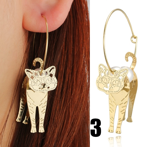 Imaginative Pearl Cat Earrings
