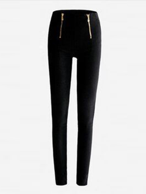 High Waist Zipper Skinny Women's Pencil Pants
