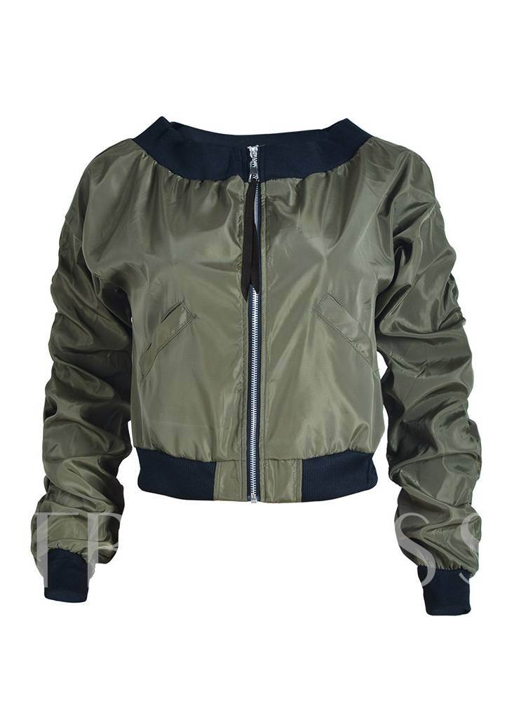 Chic Ruched Dual Pocket Women's Jacket