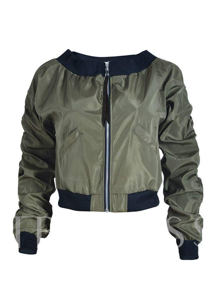 Buy Chic Ruched Slash Neck Dual Pocket Women's Jacket, Spring,Fall, 13380936 for $20.59 in TBDress store